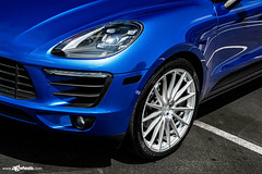 Porsche Macan - M615 - Machined Silver (AvantGardeWheels) Tags: agwheels ag avant garde wheels m615 machined silver custom concave flow form monoblock rotary forged bespoke rims stance lowered porsche macan euro german blue backbay newport beach automotive photography nature