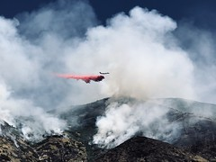 Special delivery (NinjaCat1212) Tags: hiking utah daylight light smoke clouds airplane wildfire fire outside natural nature landscape