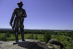 General Warren Looks Over the Terrain (dcnelson1898) Tags: gettysburg pennsylvania civilwar militaryhistory america usa unitedstates nationalpark gettysburgnationalmilitarypark nps memorial battle park
