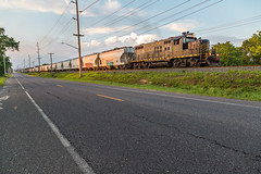 Last Light (sully7302) Tags: winchester western emd gp9 locomotive 520 vineland cumberland county conrail shared assets train sunset clouds golden hour road street freight suburbs industrial transportation