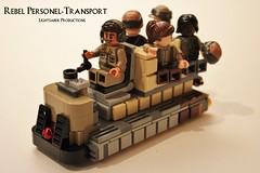 Rebel Personel Transport (Rogue One - Yavin 4) (Lightsaber Productions) Tags: star wars lego moc yavin 4 rogue one rebellion ground vehicle transport personel