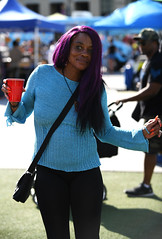 In The Groove (Anthony Mark Images) Tags: portrait people woman ontario canada female dancing drink beautifulwoman lovely mississauga inthegroove purplehair blackpants bluesweater caribbeanfestival iriemusicfestival socamusic nikon d850 flickrclickx dance middleagedwoman orangefingernails