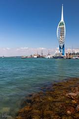 Spinnaker Tower (ivanstevensphotography) Tags: spinnaker sea seaside beach portsmouth harbour seaweeds seaweed waves
