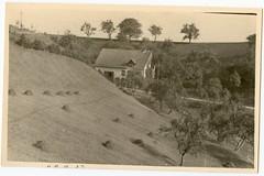 . (Kaïopai°) Tags: vintage house haus building gebäude hügel dorf trees bäume heu heuwiese wiese hang