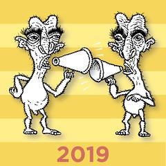 2019 (Don Moyer) Tags: ink drawing sketchbook moyer donmoyer megaphone creature loud brushpen dialog