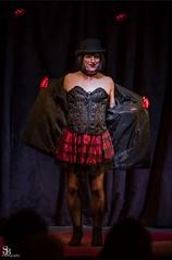 Getting My Kit Off (justplainrachel) Tags: justplainrachel rachel cd tv crossdresser transvestite corset cute skirt isadorapersano jacket hat strip burlesque stage performance show dance tease