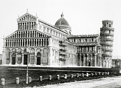Cathedral Il duomo, Pisa, Italy ( 1860-1890 ) (Silverbanks Pictures Ltd.) Tags: photochrom 1900s grand tour europe pisa italy duomo leaning tower 1890s