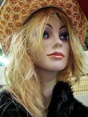 Mannequin (J Wells S) Tags: mannequin hat blond blonde wig plasticpeople dummy storedummy tradersworldfleamarket lebanon ohio