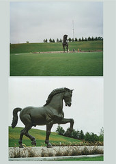 Frederik Meijer Gardens & Sculpture Park | Grand Rapids - Michigan - Attractions - Leonardo da Vinci's Horse (Onasill ~ Bill Badzo - 66M) Tags: collage leonardo da vincis horse the american by nina akamu bronze sculpture is 24 feet frederick meijer gardens park grand rapids mi michigan nrhp landmark attraction kentcounty museum garden township onasill unitedstates usa west horticultural society big old vintage photo