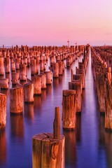 Princes Pier (Unoriginally Unique) Tags: melbourne pier princes pink blue sea