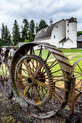 Dahmen Barn (Marcia H) Tags: palouse dahmanbarn art washington barn wheels crafts pastoral
