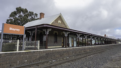 Blayney Railway Station - built 1876 - see below (Paul Leader - Paulie's Time Off Photography) Tags: building station architecture streetphotography australia olympus railwaystation nsw newsouthwales streetscape oldbuilding heritagebuilding heritagelisted blayney built1876 mainwesternline paulleader olympusem1x