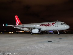 Corendon Airlines ZS-GAZ HAJ at Night (U. Heinze) Tags: aircraft airlines airways airplane airbus planespotting plane olympus omd em1markii 12100mm flugzeug haj hannoverlangenhagenairporthaj night eddv