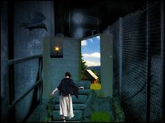 Escapism (bdira3) Tags: surreal conceptual prison woman escape predator bird bright world opening escapism