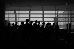 airport (Assy2015) Tags: 28mm gr ricoh monochrome bw street people airport