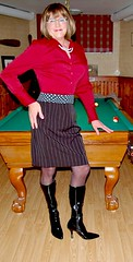 The pool shark! (donnacd) Tags: legs sissy tgirl tgurl slut dressing crossdress crossdresser cd travesti transgenre xdresser crossdressing feminization tranny tv ts feminized jumpsuit domina blouse satin toes lingerie touchy feely he she look 易装癖 シー