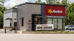 New Hardee's, Now Hiring (sniggie) Tags: hardees qsr franchise fullemployment newfastfoodrestaurant nowhiring workers