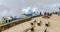 Olympic National Park:  A Balcony in the Clouds at the Hurricane Ridge Visitor Center. (lhboudreau) Tags: