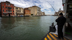 Gone Fishing (petetiller) Tags: petetiller petertiller europe italy venice grandcanal cityscape seascape streetscape canal fishing fisherman