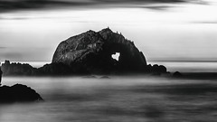 Well at a Certain Time of Night (Thomas Hawk) Tags: america bayarea california sfbayarea sanfrancisco sutrobaths usa unitedstates unitedstatesofamerica westcoast bw heart sunset
