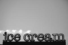 Blue Skies and Ice Cream (Thomas Hawk) Tags: america bayarea california eastbay oakland sfbayarea us usa unitedstates unitedstatesofamerica westcoast bw icecream neon fav10