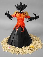 Pele: Earthen Mother (AlexParkDesigns) Tags: god goddess lava volcano nature hawaii sand beach rock black mythology figure toy lego bionicle technic scene biocup2019