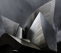Disney-Hall-Los-Angeles-color-1 (mcook1517) Tags: architecture disneyhall losangeles downtown sky building street urban city clouds nikon 20mm fineart visual art visualart