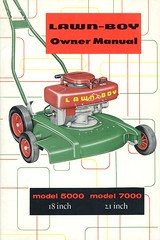 Lawn-Boy Owner Manual (Alan Mays) Tags: ads paper advertising books ephemera covers advertisements printed bookcovers owners booklets ownermanuals old red green lines yellow vintage typography antique curves models illustrations equipment engines 1950s type instructions names fonts brands lawns mowers companies typefaces manufacturers manuals lawnmowers brandnames lawnboy gasengines grasscutters gasolineengines pushmowers rotarylawnmowers rotarymowers machinery machines