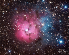 Trifid (M20; NGC 6514) (theordinaryphotographer) Tags: trifid trifidnebula nebula astronomy astrophotography deepsky m20 messier20 ngc6514 emission reflection summer at6rc hydrogen space