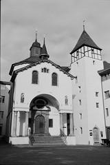 Sebastianskapelle (vladixp) Tags: fp4 fp4plus fp480 d76 14min 20c 12 praktica mtl5 flektogon k2 pf7250u 3600dpi 35mm yellowfilter filmscan 35mmfilm film bw bwfilm filmphotography negative scanned svizzera schweiz switzerland suisse brig valais