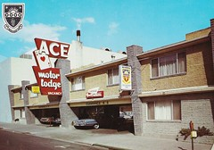Vintage Postcard - Ace Motor Lodge - Reno, Nevada (hmdavid) Tags: vintage postcard reno nevada 1960s roadside motel ace motor lodge midcentury modern architecture neon sign 1950s cards script friendshipinn