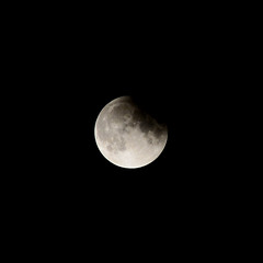Partial Lunar Eclipse, July 2019 (Inner Vision Productions) Tags: july fullmoon moon lunar eclipse partial halfblood buck night crater surface detail zoom sharp focus focussed nikon d5200 55300mm telephoto shadow contrast light bright geology geography meteor impact summer 2019 innervision photography mattblythe isleofwight sandown sky