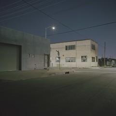 Wireline night on E. Pico (ADMurr) Tags: la eastside industrial night hasselblad 500cm zeiss distagon 50mm fle fuji pro 400 film dba514