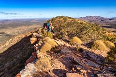 Trekking along Mt Sonder ridge (NettyA) Tags: australia centralaustralia larapintatrail mtsonder mtsonderwalk nt northernterritory tjoritjiawestmacdonnellnationalpark worldexpeditions bushwalk bushwalking hike
