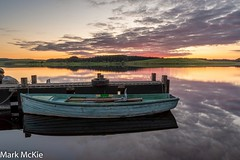 Loch Ochiltree (Mark McKie Photography) Tags: nikond7500 nikon galloway lochochiltree newtonstewartanglingassociation newtonstewart troutloch boat water sunset scotlandslandscape clouds redskyatnight