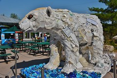 Poly the Polar Bear, Washed Ashore-Art to Save the Sea, Toronto Zoo, Toronto, ON (Snuffy) Tags: polythepolarbear washedashorearttosavethesea torontozoo zoo toronto ontario canada