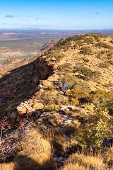 Mt Sonder ridge (NettyA) Tags: australia centralaustralia larapintatrail mtsonder mtsonderwalk nt northernterritory tjoritjiawestmacdonnellnationalpark worldexpeditions bushwalk bushwalking hike