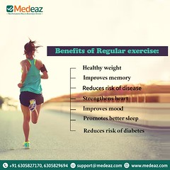 Benefits Of Regular Exercise (neetagurnale17417) Tags: exercise workout diet fitness nutrition fit gym weightloss diabetes bettersleep weight diseases obesity bloodpressure benefits risk memory heart medeaz