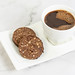 Cup of Black Coffee with Chocolate cookies with Peanuts
