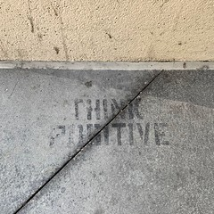 Think positive (Ricky Leong) Tags: alberta calgary canada photowalk random typography urban