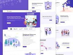 Financial Planner Website Design (tajwardesigns) Tags: finance advisor planner illustration