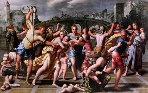 IMG_0061EBAB Samson Brulley 1560-1621 Besançon  La Nativité du chanoine Pourtier 1620 Scènes de la vie de la Vierge The Nativity of Canon Pourtier   Scenes from the life of the Virgin Besançon Musée des Beaux Arts