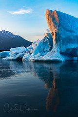 Midnight Glow (Chad Dutson) Tags: midnight glow light sun reflection water lake river ice glacier glacial alaska pacific northwest summer nature wilderness wild mountains mountain evening sunset landscape waterscape