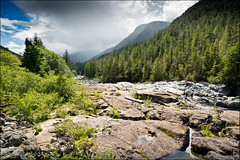 wally creek (heavenuphere) Tags: canada nature creek river landscape bc britishcolumbia vancouverisland pacificrimhighway 24105mm kennedyriver wallycreek alberniclayoquot