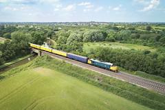 37610 near Stenson Junction (robmcrorie) Tags: 37610 stenson junction trent mersey canal derbyshire findern willington test train phantom 4