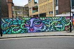 Amara Por Dios, London, UK (Robby Virus) Tags: london england uk unitedkingdom greatbritain britain british amarapordios artist street art hanbury mural woman purple