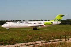 D-AGPR (PlanePixNase) Tags: aircraft airport planespotting haj eddv hannover langenhagen dba deutscheba fokker 100 f100