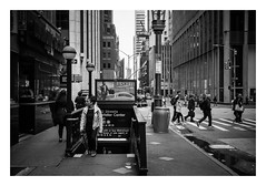 FILM - Ground level (fishyfish_arcade) Tags: 35mm analogphotography bw blackwhite blackandwhite canonsureshotz135 filmphotography filmisnotdead hp5 istillshootfilm monochrome newyork analogcamera compact film ilford mono streetphotography subway