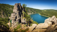 "Panorama du Lac Blanc et le Rocher ""Chateau"" Hans (cedant1) Tags: france hautrhin grandest europe europa french nature vosges landscape panorama rock rocks lake view haus"