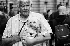 Cute Wee Dog (Cycling-Road-Hog) Tags: blackwhite candid canoneos750d citylife colour efs55250mmf456isstm edinburgh edinburghstreetphotography monochrome people places royalmile scotland street streetphotography streetportrait urban